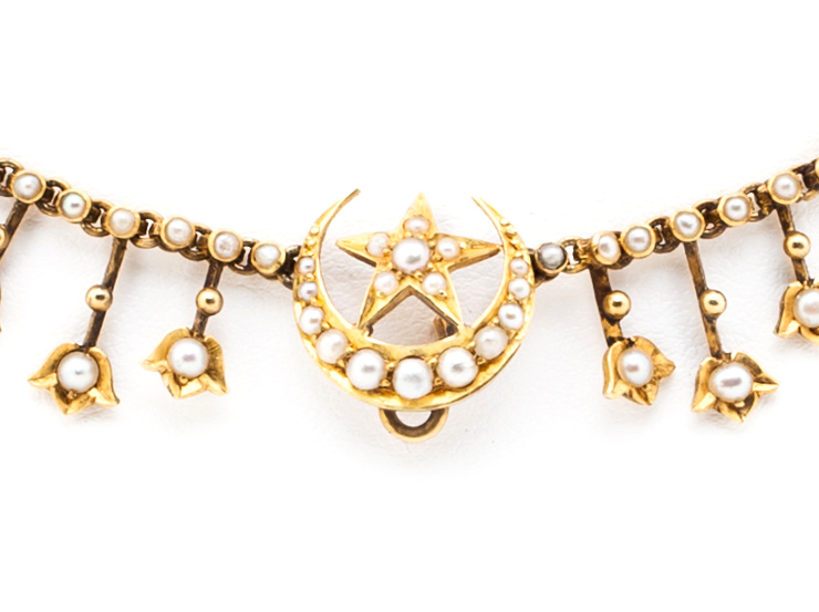 Belle Époque Celestial Fringe Necklace