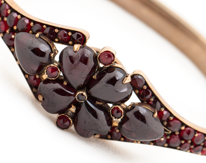 Bohemian Garnet Heart Bracelet