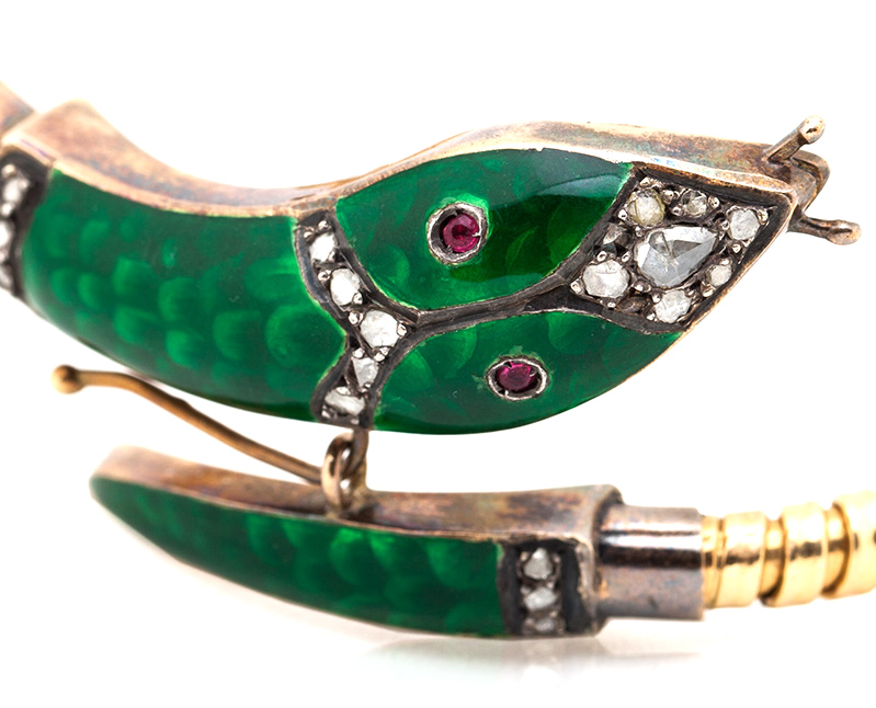 Enameled Serpent Bracelet