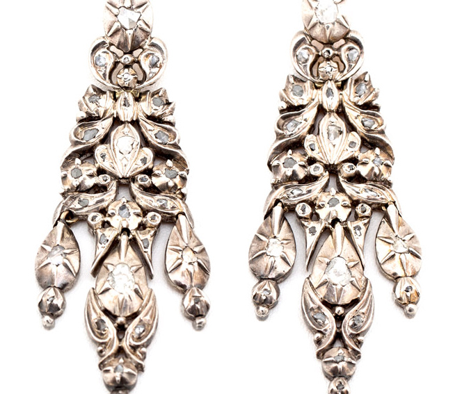 18th-Century Iberian Diamond Earrings