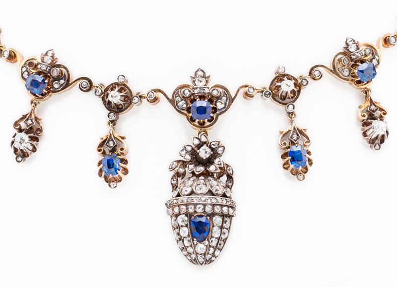 Sapphire and Diamond Tsarina Necklace